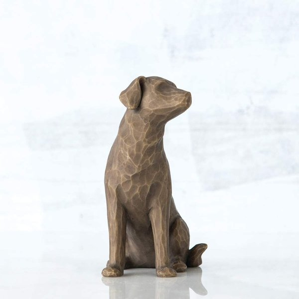 "Willow Tree Figur ""Love my Dog (dark)"""
