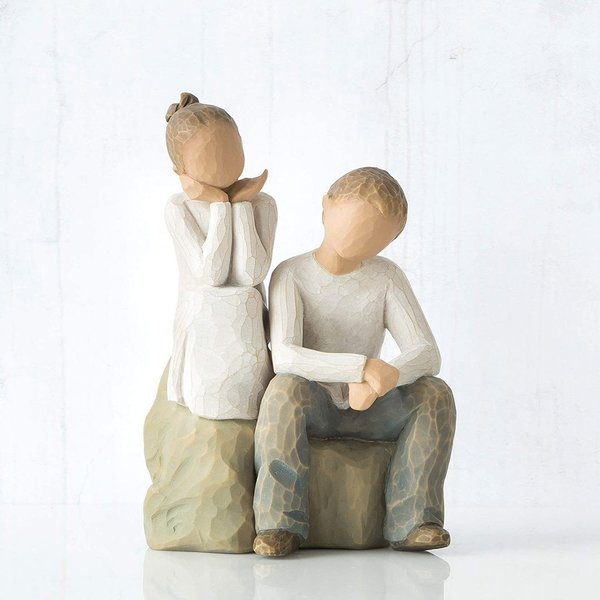 "Willow Tree Figur ""Brother and Sister"""